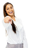 Pointing businesswoman Stock Photo