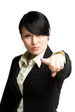 Pointing businesswoman Royalty Free Stock Images