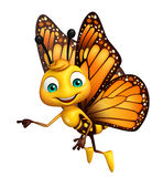 pointing  Butterfly cartoon character Stock Photos
