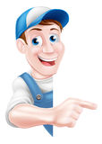 Pointing Cartoon Man Stock Images