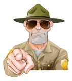 Pointing Cartoon Park Ranger Royalty Free Stock Images