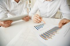 Pointing at chart Stock Image