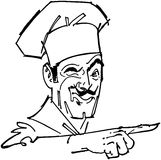 Pointing Chef Stock Photos