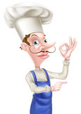 Pointing Chef Perfect Sign Royalty Free Stock Photos