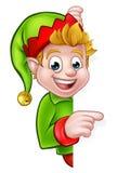 Pointing Christmas Elf Cartoon Character Stock Photos