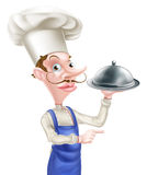 Pointing Cloche Chef Stock Photography