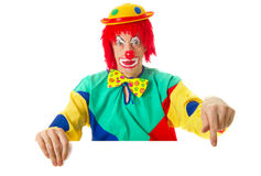 Pointing clown Royalty Free Stock Photography