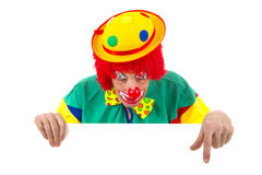 Pointing clown Royalty Free Stock Photo