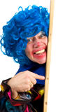 Pointing clown Royalty Free Stock Images
