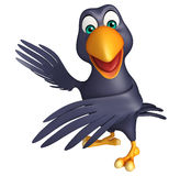 Pointing  Crow cartoon character Stock Photo