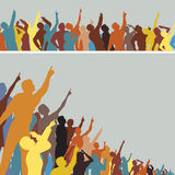 Pointing crowds Stock Photos