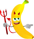 Pointing devil banana Stock Images