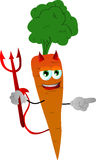Pointing devil carrot Royalty Free Stock Photo