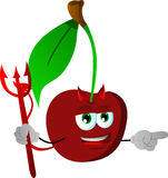 Pointing devil cherry Royalty Free Stock Images