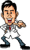 Pointing doctor Stock Images