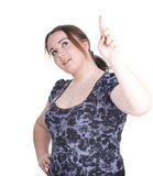 Pointing fat girl Royalty Free Stock Photography