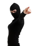 Pointing female thief Royalty Free Stock Photos