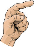 Pointing finger. A pointing finger illustrated in colour Royalty Free Stock Photography