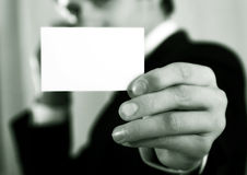 Pointing finger ahead Stock Images