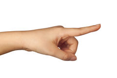 Pointing a finger Royalty Free Stock Photos