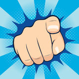 Pointing Finger. Close up illustration of finger pointing towards you Stock Photography