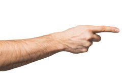Pointing finger Stock Photos