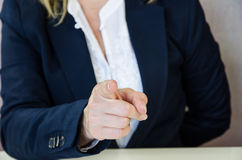 Pointing finger Stock Image