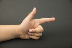 Pointing finger Stock Images