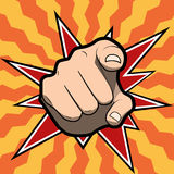 Pointing finger or hand pointing icon  on colored background. Vector pointing finger or hand pointing icon  on colored background Stock Photo