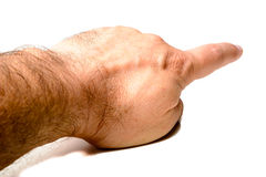 Pointing finger hand Stock Photos