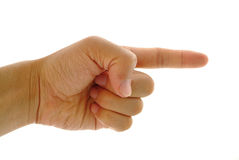 Pointing finger Royalty Free Stock Images