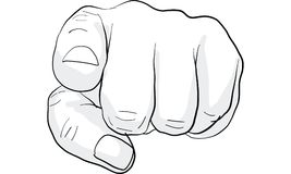 Pointing finger signal, hand signal  vector. Pointing finger to people, hand signal  vector Royalty Free Stock Photography