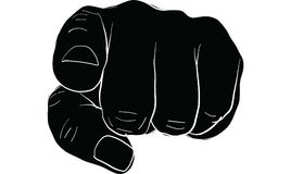 Pointing finger signal, hand signal  vector. Pointing finger to people, hand signal  vector Stock Image