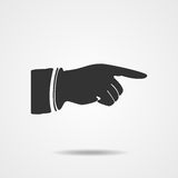 Pointing finger Vector illustration EPS10. Right forefinger pointing to. Pointing hand finger. Vector illustration EPS10 Stock Image