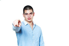 Pointing finger at you Royalty Free Stock Photos