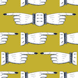 Pointing fingers seamless pattern Stock Images