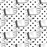 Pointing fingers seamless pattern Royalty Free Stock Photos