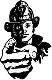 Pointing Fireman Stock Image