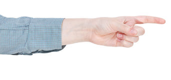 Pointing forefinger - hand gesture Royalty Free Stock Images