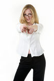 Pointing forward Royalty Free Stock Photo