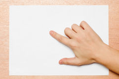 Free Pointing Gesture Royalty Free Stock Image - 45239736