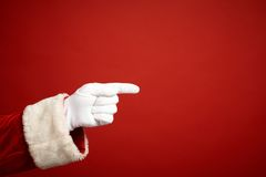 Pointing gesture Royalty Free Stock Photography