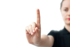 Pointing gesture Royalty Free Stock Photo