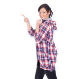 Pointing girl Royalty Free Stock Image