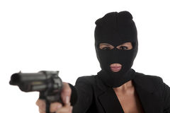 Pointing with gun Royalty Free Stock Photos
