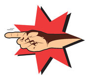 Pointing hand. Vector pointing hand on white. Symbol Stock Image