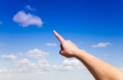Pointing hand royalty free stock photography