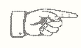 Pointing hand. Hand with pointing finger in cross stitches Royalty Free Stock Photography