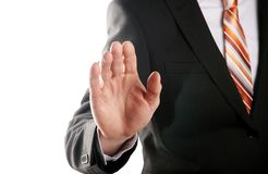 Pointing hand Stock Photography
