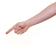 Pointing hand Stock Image